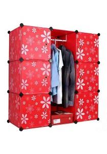 Tupper Cabinet 9 Cubes DIY Wardrobe Red