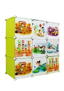 Tupper Cabinet 9 Cubes DIY Fruit Green Cartoon(Story) Cabinet