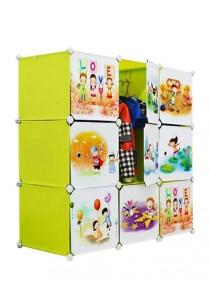 Tupper Cabinet 9 Cubes Fruit Green DIY Cartoon (Story) Wardrobe