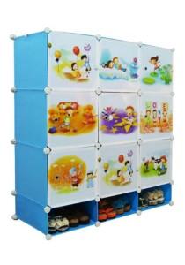 Tupper Cabinet 12 Cubes DIY Sky Blue Cartoon with Mini Bottom