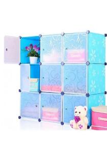 Tupper Cabinet 9 Cubes Flower DIY Cabinet (Blue)