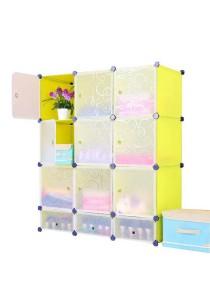 Tupper Cabinet 12 Cubes DIY Cabinet With 3 Door Mini Bottom (Fruit Green)
