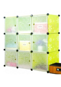Tupper Cabinet 9 Cubes Green Flower DIY Cabinet