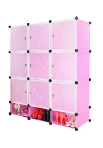 Tupper Cabinet 12 Cubes Pink Color DIY Cabinet With Mini Bottom