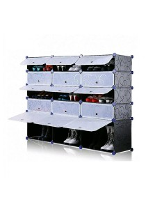 Tupper Cabinet 5 Tier 15 Cubes Black Stripes DIY Shoe Rack