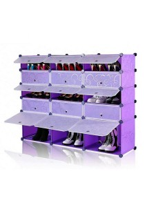 Tupper Cabinet 5 Tier 15 Cubes Purple Stripes DIY Shoe Rack