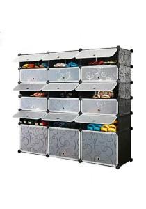 Tupper Cabinet 6 Tier 18 Cubes Black Stripes DIY Shoe Rack Black Stripes