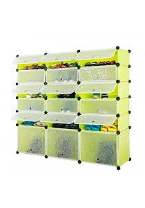 Tupper Cabinet 6 Tier 18 Cubes Fruit Green DIY Shoe Rack Fruit Green