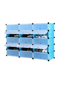 Tupper Cabinet 5 Tier 15 Cubes Blue Flower DIY Shoe Rack