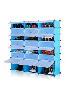 Tupper Cabinet 7 Tier 21 Cubes Blue Flower DIY Shoe Rack