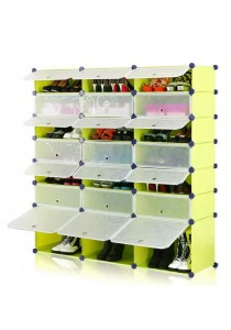 Tupper Cabinet 7 Tier 21 Cubes Fruit Green DIY Shoe Rack
