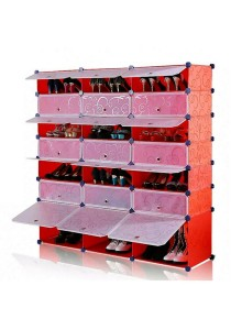 Tupper Cabinet 7 Tier 21 Cubes Red Stripes DIY Shoe Rack