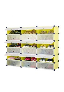 Tupper Cabinet  6 Tier 18 Cubes Fruit Green DIY Shoe Rack