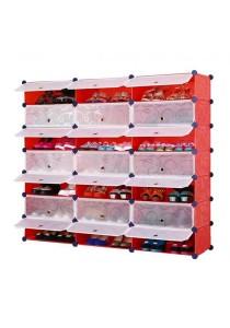 Tupper Cabinet 7 Tier 21 Cubes Red Stripes DIY Shoe Rack
