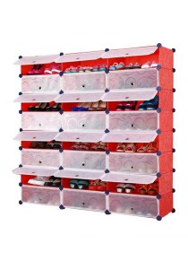 Tupper Cabinet 8 Tier 24 Cubes Red Stripes DIY Shoe Rack