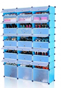 Tupper Cabinet 10 Tier 30 Cubes Blue Flower DIY Shoe Rack