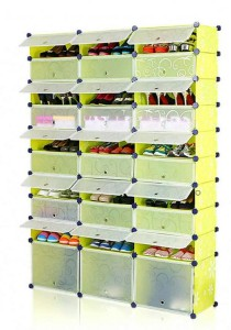Tupper Cabinet 10 Tier 30 Cubes Green Flower DIY Shoe Rack