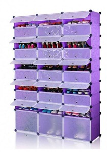 Tupper Cabinet 10 Tier 30 Cubes Purple Stripes DIY Shoe Rack