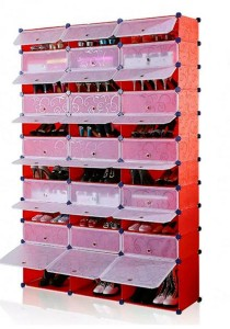 Tupper Cabinet 11 Tier 33 Cubes Red Stripes DIY Shoe Rack