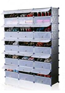 Tupper Cabinet 10 Tier 30 Cubes Black Stripes DIY Shoe Rack