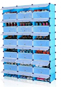 Tupper Cabinet 11 Tier 33 Cubes Blue Flower DIY Shoe Rack