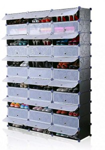 Tupper Cabinet 11 Tier 33 Cubes Black Stripes DIY Shoe Rack