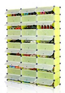 Tupper Cabinet 11 Tier 33 Cubes Green Flower DIY Shoe Rack