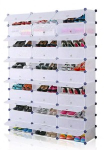 Tupper Cabinet 11 Tier 33 Cubes White Stripes DIY Shoe Rack