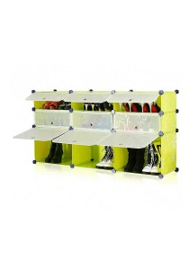 Tupper Cabinet 3 Tier 9 Cubes Fruit Green DIY Shoe Rack