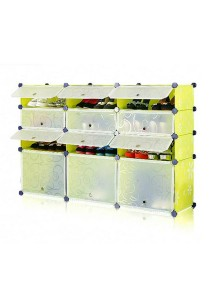 Tupper Cabinet 4 Tier 12 Cubes Fruit Green DIY Shoe Rack