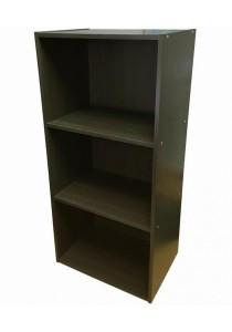 Large 3-Tier Storage Shelf Rack Organizer Cabinet (Dark Brown)