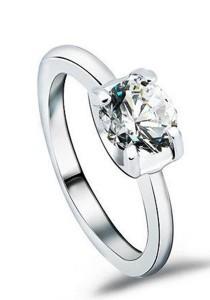 OUXI Swarovski Zirconia Diamond Love Ring (Size 10)