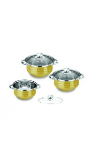 Idea Pumpkin Pot Cookware Set (6 Pcs) Gold