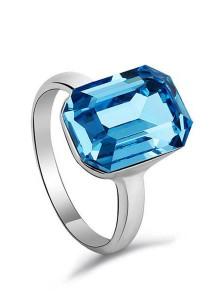 OUXI Luxury Crytal Ring (Aquamarine)