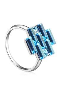 OUXI Crystal Ring - 40158 (Aquamarine)