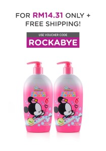 Twin Pack Head to Toe Baby Wash 450ml (Melody)