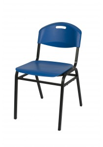 Vetop Storage Plastic Chair - Blue