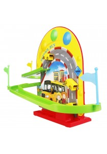 BO Happy School Magnetic Rotation Bus Track with Light & Music