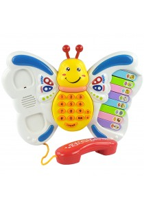 Baby Toy Music Phone Multifunctional Educational Toy with Music, Light & Sounds