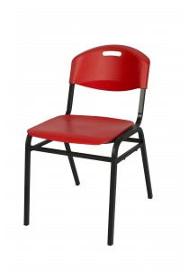 Vetop Storage Plastic Chair - Red