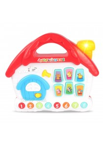 Cartoon Animal Music House Multifunctions Learning Toy For Baby 18M+