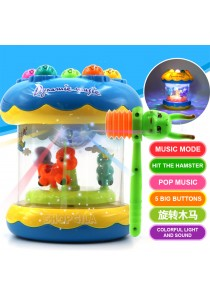Baby Playing Hamster Music Game with Carousel, Light & Music