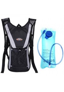 Cycling Sport Backpack with 2L Water Bag (Black)