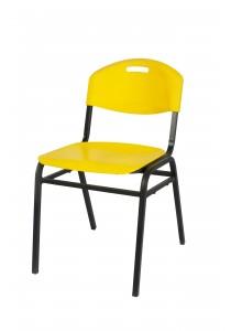 Vetop Storage Plastic Chair - Yellow