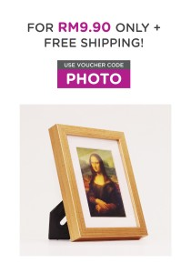 Fotable-x Gold - Table Top Photo Frame