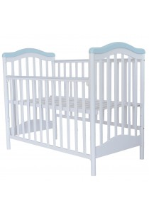 Royalcot R461 Baby Cot White Blue