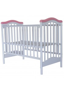 Royalcot R461 Baby Cot White Pink