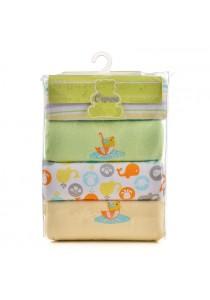 OWEN Baby Receiving Blankets, 4 -Piece Set (Yellow)