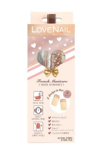 LoveNail Instant Nail Applique French Manicure Nude Romance