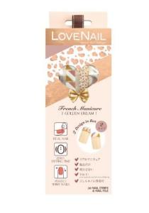 LoveNail Instant Nail Applique French Manicure Golden Dream